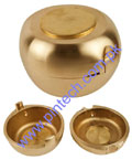 ROUND DENTURE FLASKS BRASS